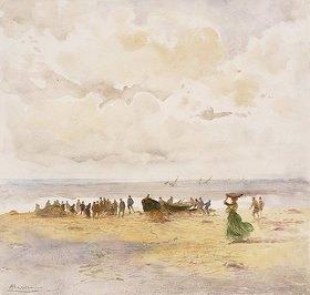 Pompeo Mariani: Fischer am Strand