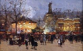 Eugene Galien-Laloue: La Fête, Place de la Republique, Paris