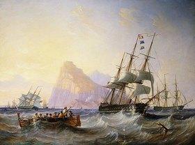 John Wilson Carmichael: Kriegsschiffe vor Gibraltar
