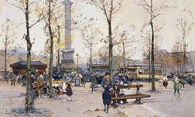 Eugene Galien-Laloue: Place de la Bastille, Paris