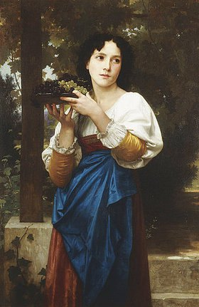 William Adolphe Bouguereau: In der Weinlaube. 1898 (?)