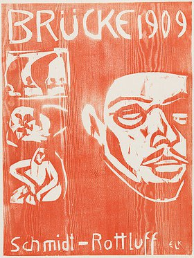 Ernst Ludwig Kirchner: Titel der 4. Brücke-Mappe für Schmidt-Rottluff