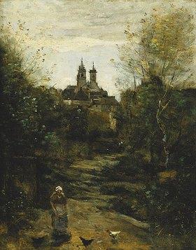 Jean-Baptiste Camille Corot: Der Weg zur Kirche in Semur. Um 1855-60 und