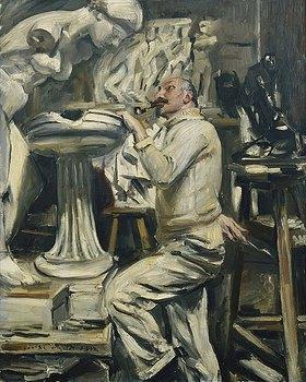Lovis Corinth: Portrait des Bildhauers Nikolaus Friedrichs