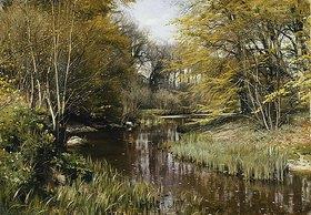 Peder Moensted: Flußlandschaft mit Bäumen