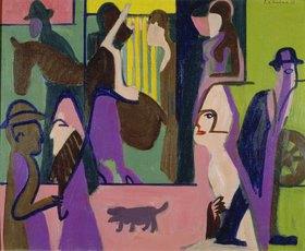 Ernst Ludwig Kirchner: Straße in der Dämmerung