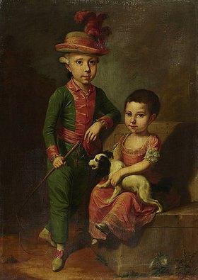Jacob ? Tischbein: Doppelbildnis des Johann Georg von Holzhausen (1771-1846) und seiner Schwester Henriette (1773-1834)