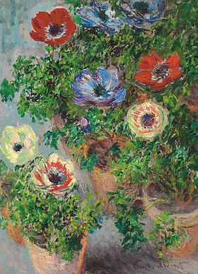 Claude Monet: Anemonen in einer Vase