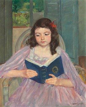Mary Cassatt: Francois in einem Stuhl mit runder Rückenlehne, lesend