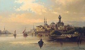 Karl Kaufmann: Kauffahrtsschiffe auf dem Bosporus, Istanbul