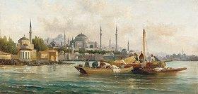 Anton Schoth: Handelsschiffe vor der Hagia Sophia, Istanbul