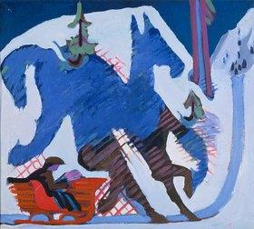 Ernst Ludwig Kirchner: Schlittenfahrt