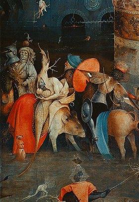Hieronymus Bosch: Antonius-Altar (Detail der Mitteltafel)