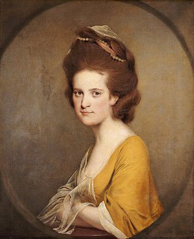 Joseph Wright of Derby: Dorothy Hodges (1752-1800) in einem gelben Kleid