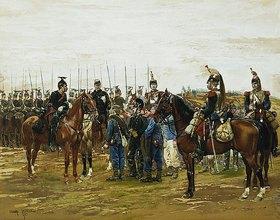 Edouard Detaille: Französische Kürassiere mit bayerischen Gefangenen