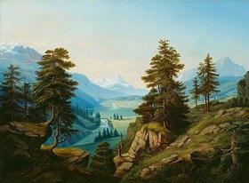 Theodor Presuhn d.Ä.: Gebirgslandschaft. Um 1863(?)