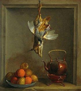 Jean-Baptiste Oudry: Rebhuhn, Hase, Zitronen, Orangen und Teekessel