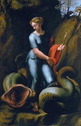 Raffael (Raffaello Sanzio): Die heilige Margarethe