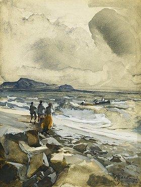 Pompeo Mariani: Ein windiger Tag am Strand