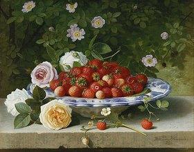 William Hammer: Ein Teller mit Erdbeeren