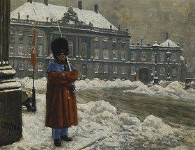 Paul Fischer: Ein Leibwächter vor dem Schloß Amalienborg in Kopenhagen