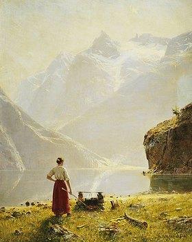 Hans Dahl: Sommertag an einem norwegischen Fjord