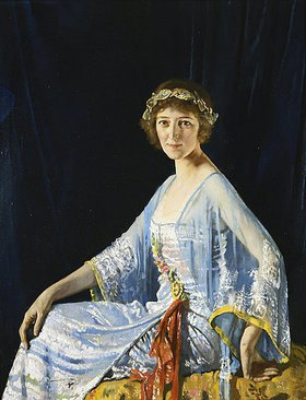 Sir William Orpen: Mrs. Georgina Drum. 1920 (Die Portraitierte war die Ehefrau des Bankiers John Drum aus San Francisco)
