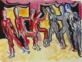 Ernst Ludwig Kirchner: Tanzgruppe Mary Wigman