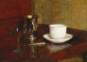Henri de Fantin-Latour: Stillleben mit Tasse und Glas