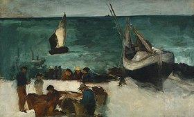 Edouard Manet: Fischer bei ihren Booten