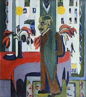 Ernst Ludwig Kirchner: Max Liebermann in seinem Atelier