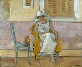 Henri Lebasque: Frau in einem weißen Kleid