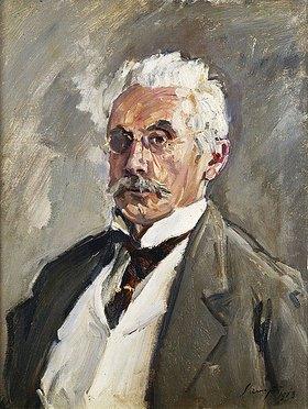 Max Slevogt: Bildnis von Carl Steinbart. 1910 (Carl Steinbart (1852-1923) war Slevogts wichtigster Mäzen. Zeitweise besaß er mehr als 70 Werke des Künstlers)