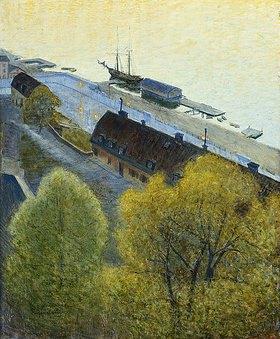 Eugene Jansson: Frühlingsabend am Hafen
