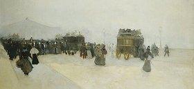 Luigi Loir: Reisende auf dem Place de la Concorde