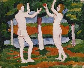 August Macke: Adam und Eva