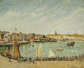 Camille Pissarro: Nachmittagsonne am Hafen von Dieppe