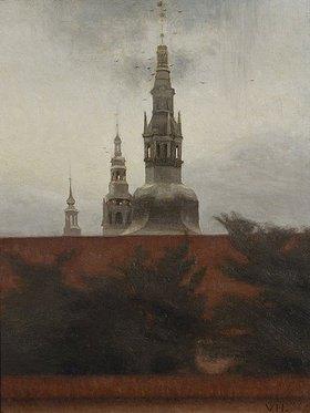 Vilhelm Hammershoi: Fredericksborg, Kopenhagen