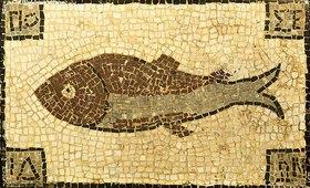 Unbekannter Künstler: Römisches Mosaik mit Fischmotiv. Ca. 4.-5. Jh. n.Chr