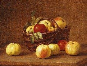 Henri de Fantin-Latour: Äpfel in einem Korb