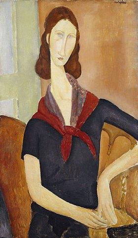 Amadeo Modigliani: Jeanne Hebuterne (mit Halstuch)