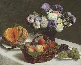Henri de Fantin-Latour: Stillleben mit Blumen und Früchten
