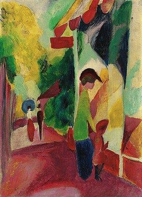 August Macke: Schaufenster mit gelben Bäumen