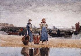Winslow Homer: Fischersfrauen am Strand von Tynemouth