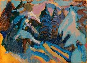 Wassily Kandinsky: Verschneite Bäume in Kochel