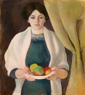 August Macke: Portrait mit Äpfeln