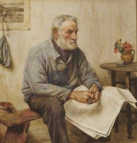 Walter Langley: Die Zeitungslektüre