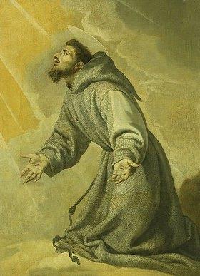 Vicente Carducho: Der Heilige Franziskus empfängt die Stigmat