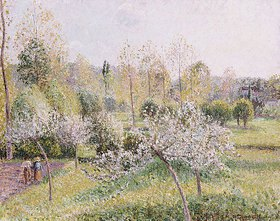 Camille Pissarro: Blühende Apfelbäume in Eragny
