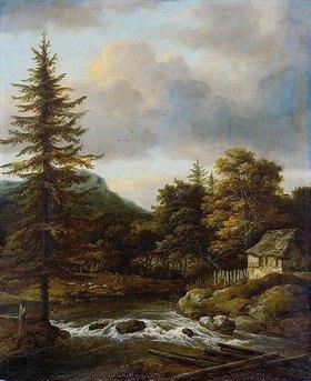 Jacob Isaacksz van Ruisdael: Der Wasserfall mit dem Tannenba